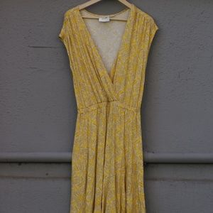 Anthropologie Maeve Yellow Maxi Dress
